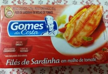 Filés de Sardinha em Molho de Tomate Gomes da Costa