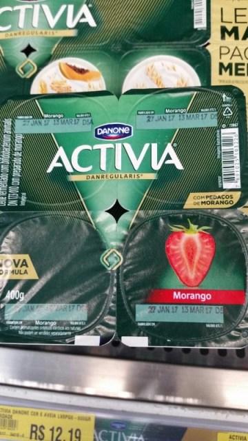 Leite Fermentado Activia Morango Danone