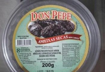 Ameixas Secas Sem Caroco Don Pepe