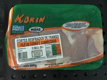 Cortes Resfriados de Frango File de Coxas e Sobrecoxass Korin