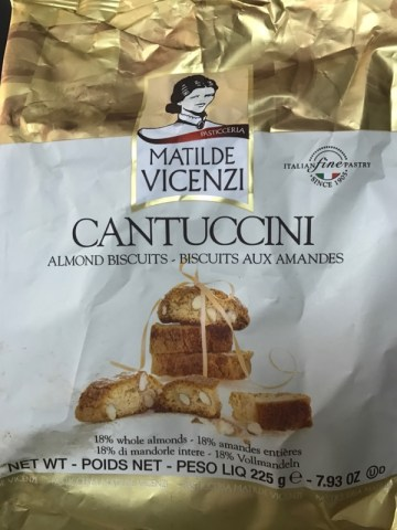 Biscoito Doce com Amendoas Cantuccini Matilde Vicenzi frente