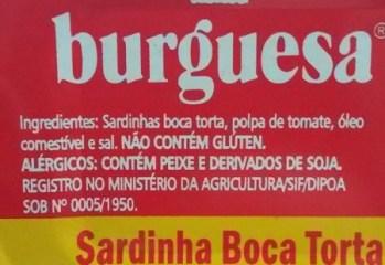 Sardinha Boca Torta Burguesa