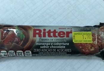 Barra Morango e Cobertura Sabor Chocolate Zero Ritter
