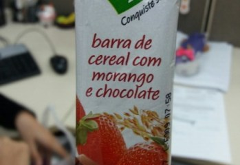 Barra de Cereal com Morango e Chocolate Light Taeq