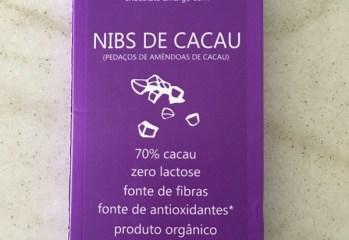 Chocolate Amargo com Nibs de Cacau 70% Cacau Orgânico Chokolah