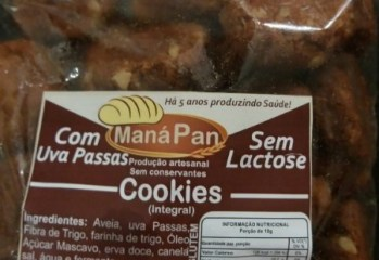 Cookies Integral com Uvas Passas Maná Pan