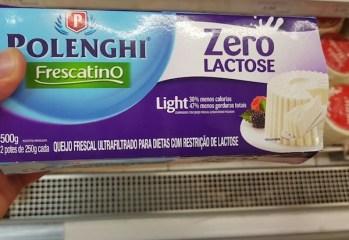 Queijo Frescal Ultraprocessado Light Zero Lactose Polenghi Frescatino