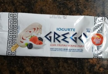 Sorvete Sabor Iogurte Grego Com Frutas Vermelhas Sorveteria Creme Mel