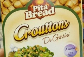Crouttons De Grissini Alho e Azeite Pita Bread