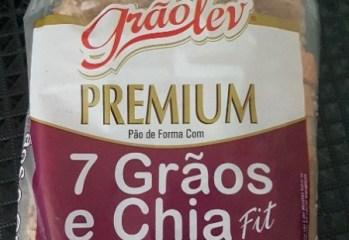 Pão de Forma Com 7 Grãos e Chia Fit Premium Grão Lev