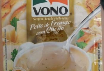Sopa Cremosa Peito de Frango com Queijo Vono Ajinomoto