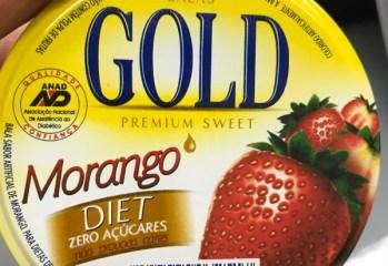 Bala de Morango Diet Gold