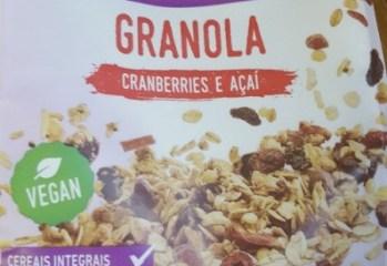 Granola Cranberries e Acai Sem Gluten Jasmine