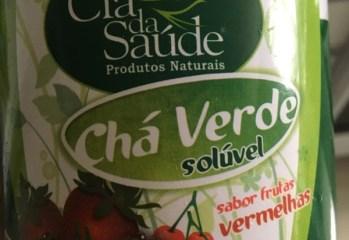 Cha Verde Soluvel Sabor Frutas Vermelhas Zero Cia da Saude
