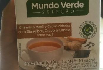 Chá Misto Maçã e Capim-cideira com Gengibre, Cravo e Canela Mundo Verde