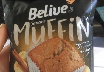 Square Muffin Banana + Canela + Chia Belive