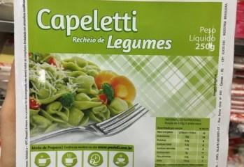 Capeletti Recheio de Legumes Pavioli