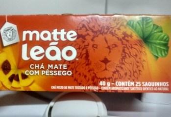 Chá Mate com Pêssego Matte Leão