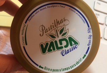 Pastilhas Sabor Mentol, Eucaliptol e Timol Classic Valda