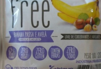 Banana Passa e Avelã Chocolate ao Leite Free Phinus
