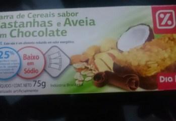 Barra de Cereais Sabor Castanhas e Aveia com Chocolate Light Dia