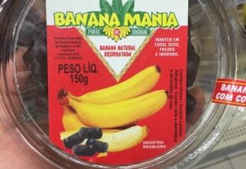 Banana Passa Com Cobertura de Chocolate ao Leite Banana Mania