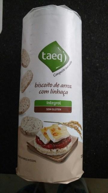 Biscoito de Arroz com Linhaça Integral Taeq