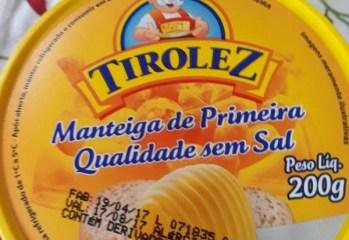 Manteiga de Primeira Qualidade Sem Sal Tirolez