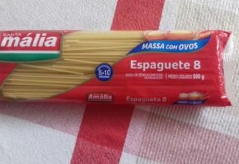 Massa Com Ovos Espaguete Santa Amália