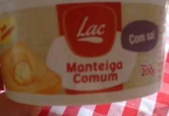 Manteiga Comum Com Sal Lac