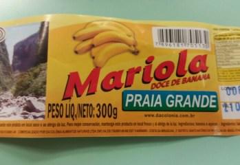 Doce de Banana Mariola Praia Grande
