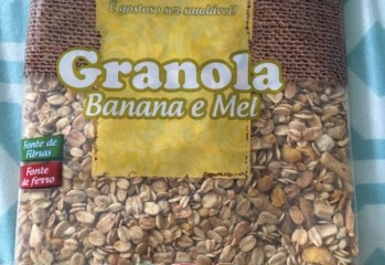 Granola Banana e Mel Da Magrinha