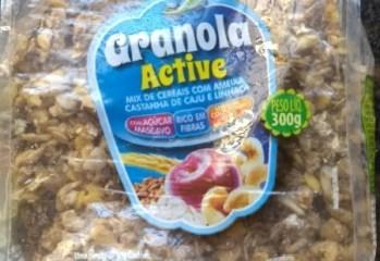 Granola Active Mix de Cerais com Ameixa, Castanha de Caju e Linhaça Natural Life Kodilar