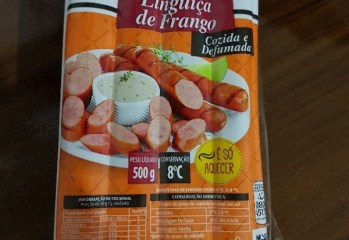 Linguiça de Frango Cozida e Defumada Copacol