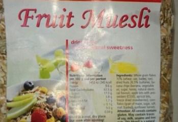Cereal Fruit Muesli Viola