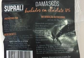 Damascos Banhados em Chocolate 70% Suprali