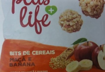 Bits de Cereais Maçã e Banana Plus Life Adria