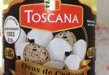 Ovos de Codorna em Conserva Toscana