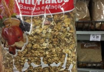 Granola Integral Nut Flakes Banana e Maçã com Canela Light Frutos da Terra