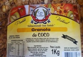 Granola de Coco Casa dos Cereais