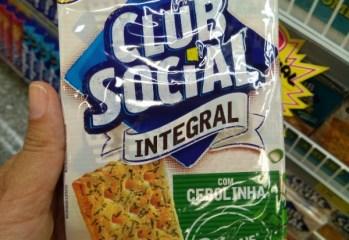 Biscoito Salgado Integral com Cebolinha Club Social