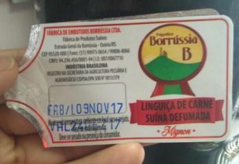 Linguiça de Carne Suína Defumada Borrússia