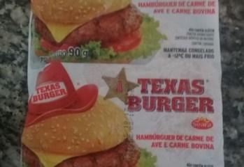 Hambúrger de Carne de Ave e Carne Bovina Texas Burger Seara