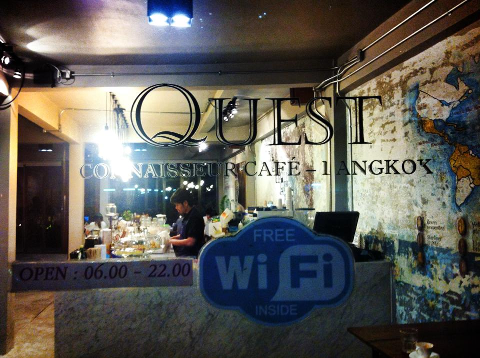 cafe quest bts phayathai free wifi