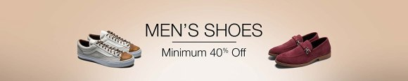 Men's Shoes: Minimum 40% off
