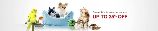 Up to 35% off Starter Kits for new pet parents