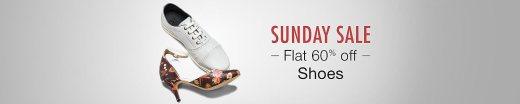 Sunday Sale: Flat 60% on shoes