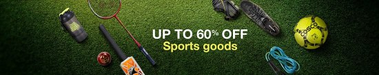 Up to 60% off Sports, Fitness and Outdoors products
