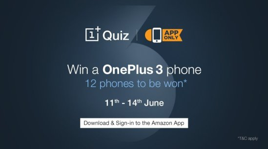 win a OnePlus 3 Phone