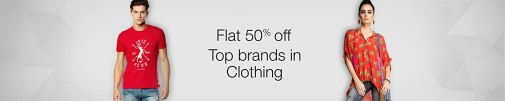 Top brands in Clothing: Flat 50% off